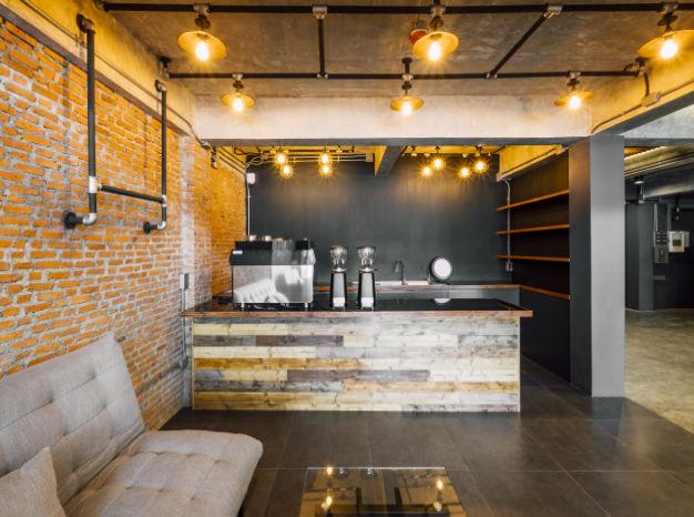 cocina industrial abierta