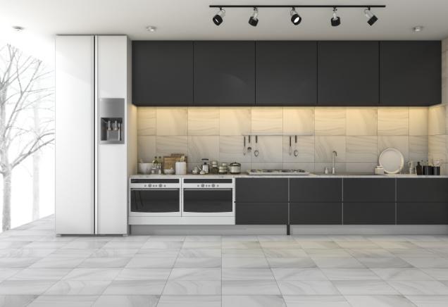 cocina marmol abierta